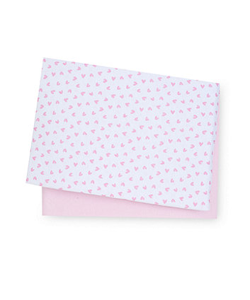 Mothercare Pink Jersey Cotton Moses Basket/Pram Sheets - 2 Pack