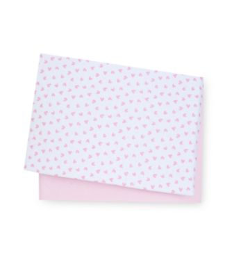 Mothercare Essential Fitted Cot Bed Sheets - Pink Star 2pk