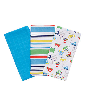 Mothercare Transport Extra Large Muslin Cloths - 3 Pack