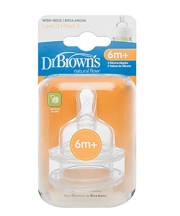Dr Brown'S Options Level 3 Teats- 2 Pack