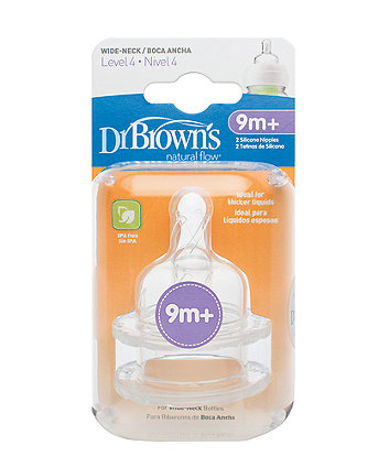 Dr Brown'S Options Level 4 Teats- 2 Pack
