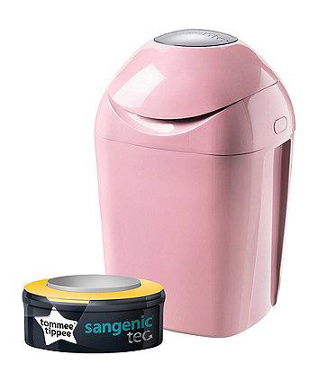 Tommee Tippee Sangenic Tec Nappy Disposal Bin - Pink