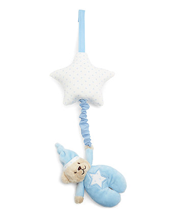 Mothercare Bedtime Bear Blue Musical Pull