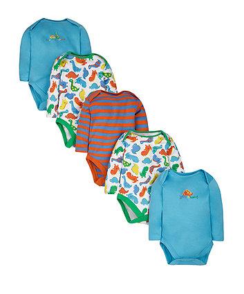 Dinosaur Bodysuits - 5 Pack