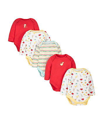 Teddy Sleepsuits - 5 Pack