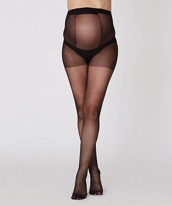 Maternity Black Tights 15 Denier - 2 Pack