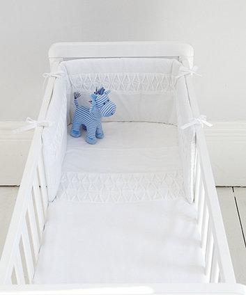 Mothercare Pleat Crib Bale - White