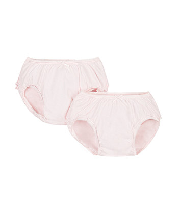 Mothercare Pink Frilly Nappy Cover Briefs - 2 Pack