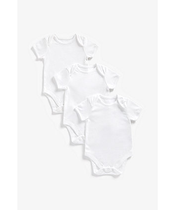 Mothercare My First Short Sleeve Bodysuits - 3 Pack