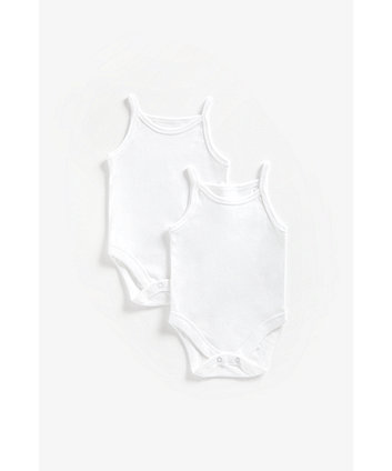 Mothercare Cami Bodysuits - 2 Pack
