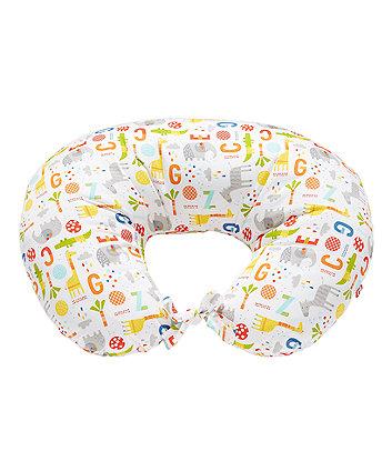 Mothercare Hello Friend Printed Feeding Pillow - Safari ABC