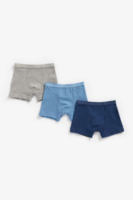 Mothercare Navy, Blue And Grey Marl Trunk - 3 Pack
