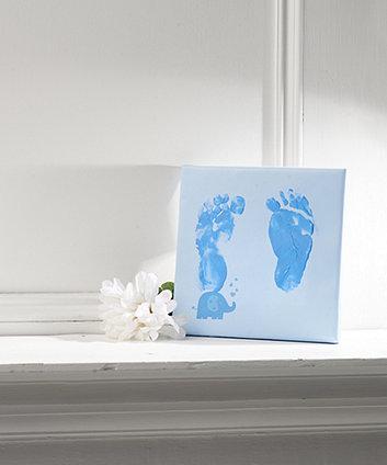 Mothercare Blue Canvas Impression Print Kit
