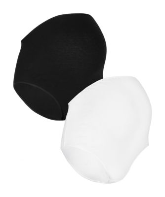Mothercare Maternity Black And White OTB Briefs - 2 Pack