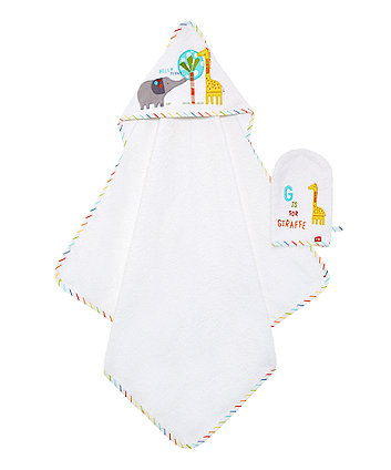 Mothercare Hello Friend Cuddle 'N' Dry And Mitt Set