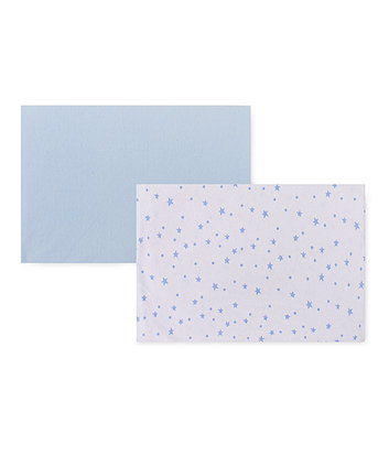 Mothercare Fitted Crib Sheets - Blue 2 Pack