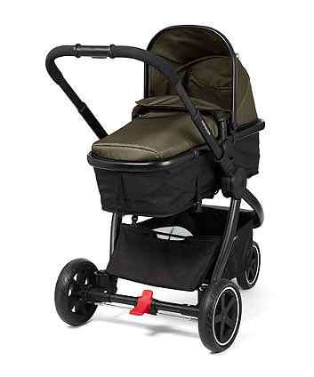 Mothercare 3 Wheel Journey Black Travel System - Khaki