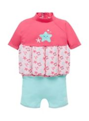 Mothercare Swimsafe Float Suits Pink 1-2 Years