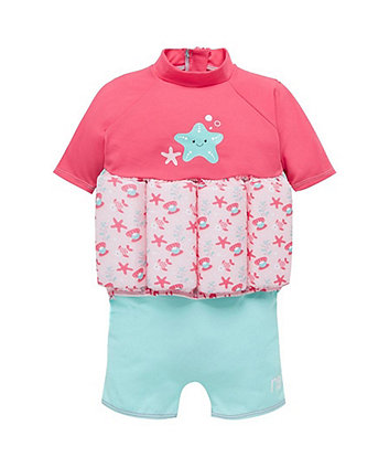 Mothercare Swimsafe Float Suit Pink 2-3