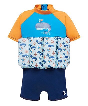 Mothercare Swimsafe Float Suits Blue 1-2 Years
