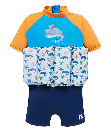 Mothercare Swimsafe Float Suits Blue 2-3