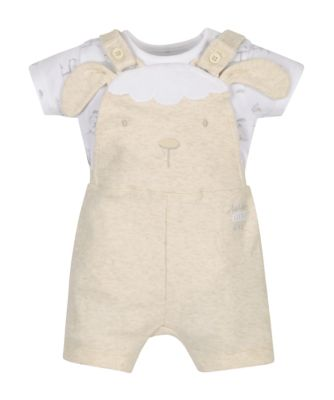 Mothercare My First Little Lamb Bodysuit And Bibshorts Set