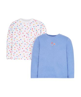 Mothercare Cosmic Girl Thermal Long Sleeve Vests - 2 Pack