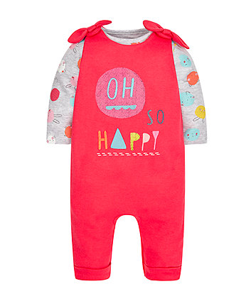Oh So Happy Dungarees And Bodysuit Set