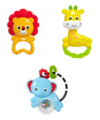 Mothercare Baby Safari Rattle Gift Set