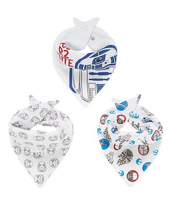 Mothercare Star Wars Dribbler Bibs - 3 Pack