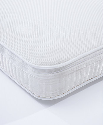 Mothercare 70 x 140cm Cot Bed Luxury Pocket Sprung Mattress with Spacetec and COOLMAX freshFX