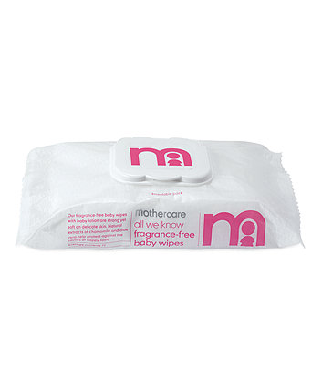 Mothercare All We Know Fragrance-Free Baby Wipes - White 9 X 72 Wipes
