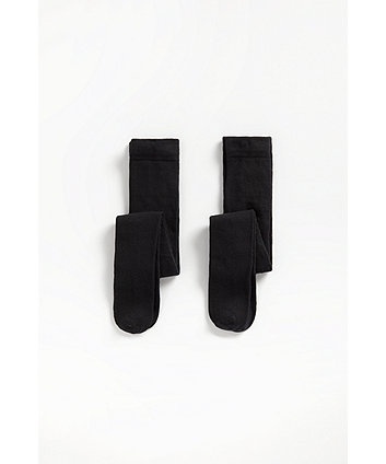 Mothercare Black Tights - 2 Pack