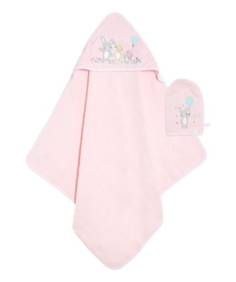 Mothercare Confetti Party Cuddle N Dry And Mitt Set - Pink