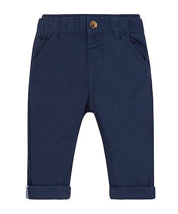 Mothercare Navy Twill Chino Trousers