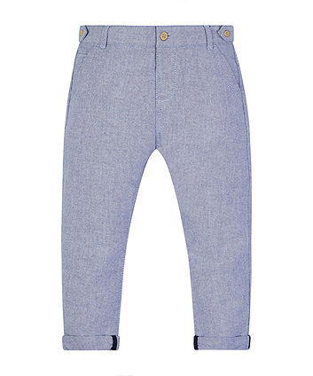 Mothercare Blue Chambray Trousers