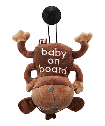 Mothercare Monkey Baby On Board Sign