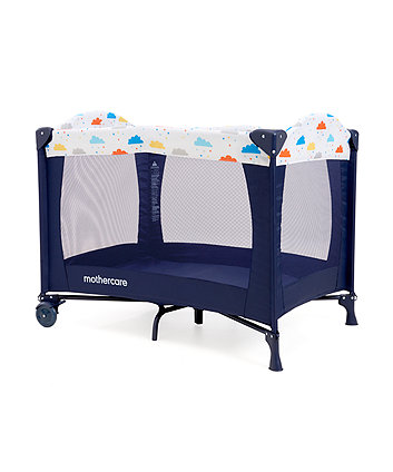 Mothercare Classic Travel Cot - Clouds
