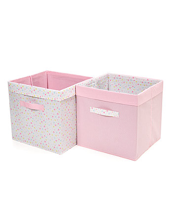 Mothercare Confetti Party Storage Cubes - Pink 2 Pack