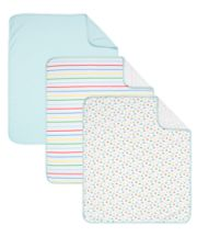 Mothercare On The Road Jersey Blankets - Blue 3 Pack