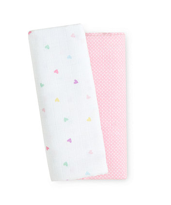 Mothercare Confetti Party Extra Large Muslin Blankets - 2 Pack