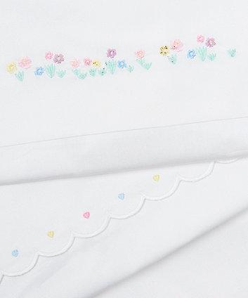 5f92363c842 mothercare confetti party σεντόνια χωρίς λάστιχο για κούνια-μονό κρεβάτι -  πακέτο των 2