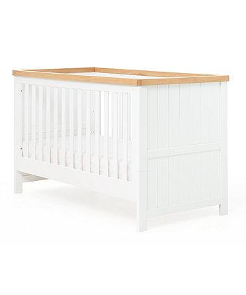 2d61228d800 mothercare lulworth κούνια & μονό κρεβάτι - λευκό και οξιά