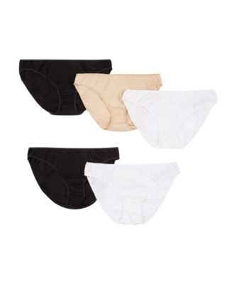 Mothercare Black, White, White And Nude Mini Brief - 5 Pack