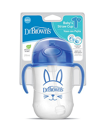 Dr Browns Weighted Straw Cup 9Oz / 27Oml - Blue