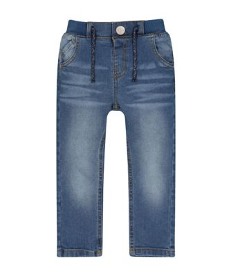 Mothercare Lead in Rib Waist Mid Wash Denim Jeans