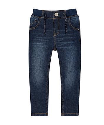 Rib Waist Denim Jeans