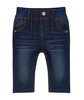 Mothercare Lead In Rib Waist Dark Wash Unlined Denim Jeans