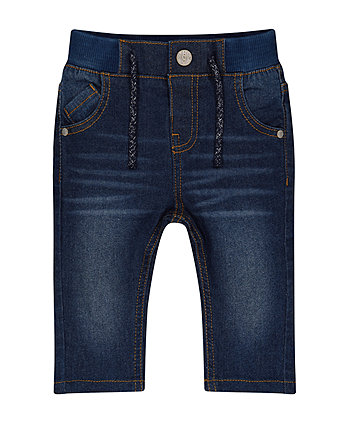 Mothercare Rib Waist Denim Jeans
