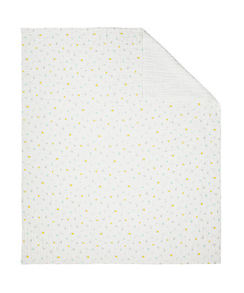 Mothercare Welcome Home Muslin Coverlet/Blanket - Mint